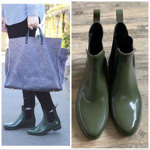 J.Crew Green Chelsea Rain Boots
